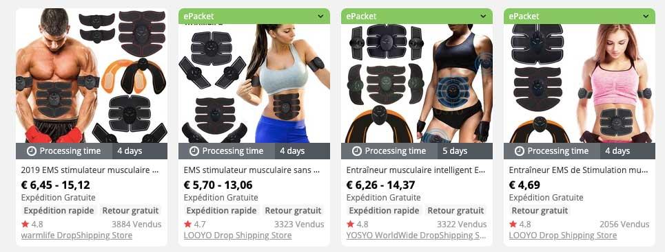produit gagnant stimulateur de muscle