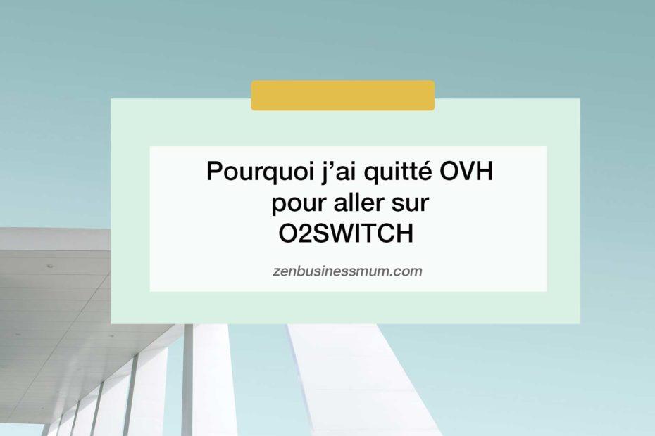 comparaison O2switch OVH